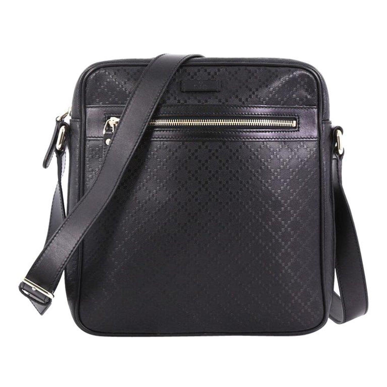 b4f0d9e5bfaf80 Gucci Front Zip Messenger Diamante Leather Medium at 1stdibs