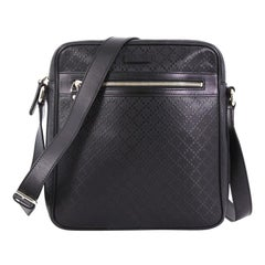 Gucci Front Zip Messenger Diamante Leather Medium
