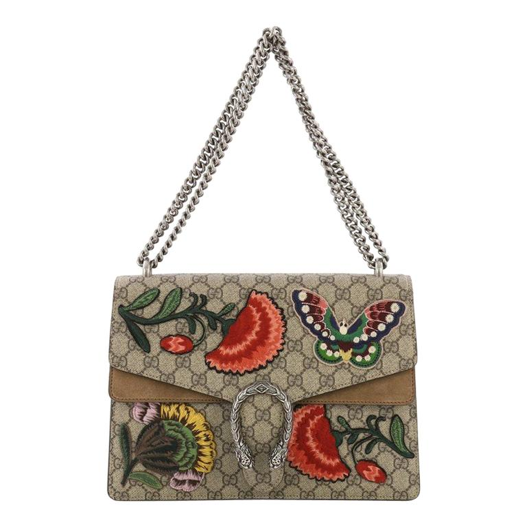 1e67a1397e0c10 Gucci Dionysus Handbag Embroidered GG Coated Canvas Medium For Sale at  1stdibs