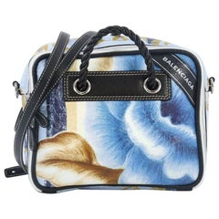 Balenciaga Blanket Square Bag Printed Leather Small