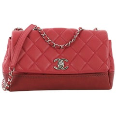Chanel Bi Coco Flap Bag Quilted Lambskin with Caviar Medium