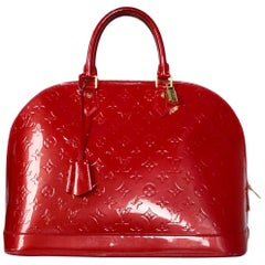 Louis Vuitton Pomme d'Amour Red Monogram Vernis Alma GM Bag