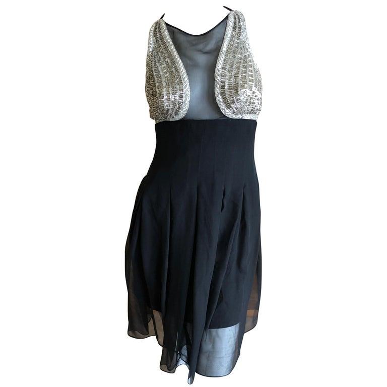 Karl Lagerfeld 1984 Lesage Sequin Embellished Mini Dress For Sale
