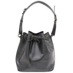 Louis Vuitton Petit Noe 865816 Black Leather Shoulder Bag