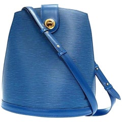 Louis Vuitton Cluny Epi 865824 Blue Leather Shoulder Bag