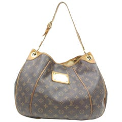Louis Vuitton Galliera Monogram Pm 865690 Brown Coated Canvas Hobo Bag