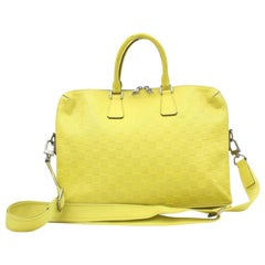 Louis Vuitton Porte Neon Yellow Damier Infini865727 Green  Leather Messenger Bag