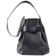 Louis Vuitton Sac D'epaule 867233 Black Leather Shoulder Bag