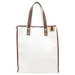 Gucci Supreme Shopper 867245 White Coated Canvas Tote