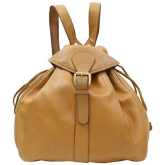 d258d533a11b Gucci 867243 Brown Leather Backpack. HomeFashionHandbags and PursesBackpacks.  Gucci Vintage Leather and Bamboo Handle Backpack For Sale