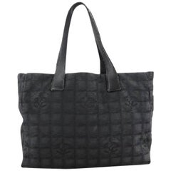 Chanel New Line Travel 213091 Black Leather Tote