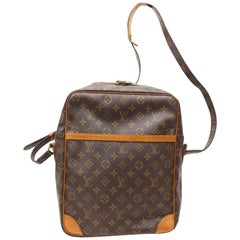 Louis Vuitton Danube Extra Large Gm 866716 Brown Coated Canvas Shoulder Bag