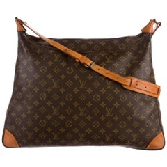 Louis Vuitton Xl Monogram Sac Promenade 866720 Brown Coated Canvas Shoulder Bag