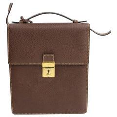 Gucci Convertible Crossbody Satchel 866726 Brown Leather Shoulder Bag