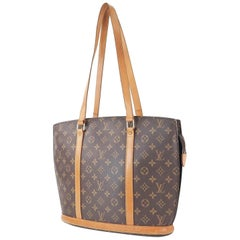 Louis Vuitton Babylone Monogram Zip 866760 Brown Coated Canvas Tote