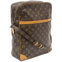 Louis Vuitton Danube Extra Large Gm 866573 Brown Coated Canvas Shoulder Bag