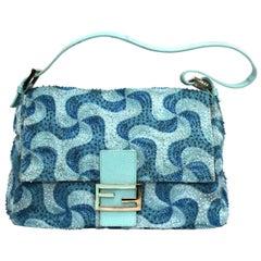 Fendi Hand-Ebroidered Baguette Shoulder Bag