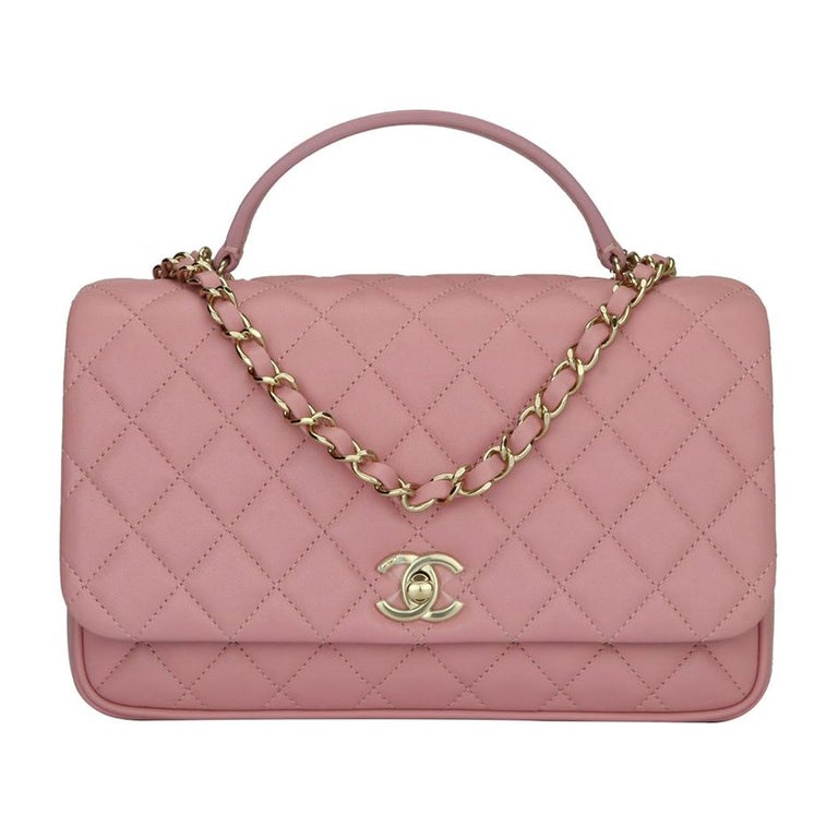 502792be46ff CHANEL Citizen Chic Medium Flap Bag Pink Lambskin with Gold Hardware 2018  For Sale