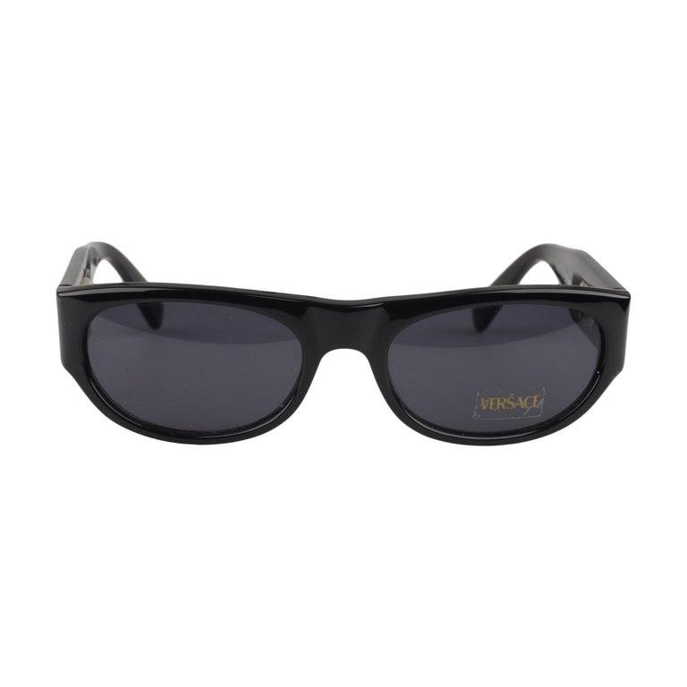 e0238c5f64e1 Gianni Versace Vintage Black Sunglasses Mod 474A Col 852 New Old Stock For  Sale