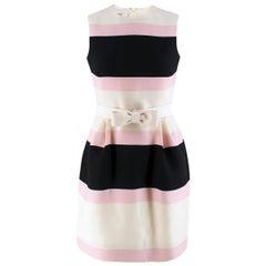 Valentino Candy Striped Wool & Silk-blend Dress US 0-2