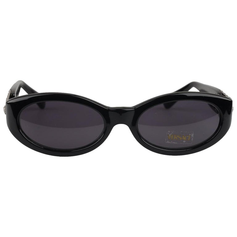 0fb33e68544 Gianni Versace Vintage Black Sunglasses Mod 292M Col N52 New Old Stock For  Sale