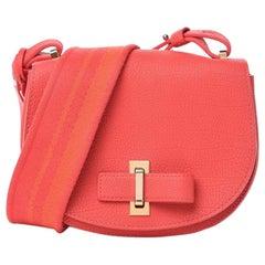 Delvaux Le Mutin Mini Leather Saddle Bag