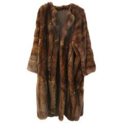 Full Length Kimono Shape Russian Sable Coat by Bisang Fourrures, Switzerland