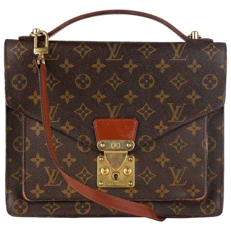 Louis Vuitton Vintage Monogram Canvas Monceau 28 Messenger Bag For Sale