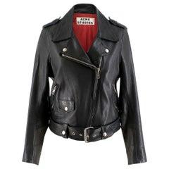 Acne Studios Mape Black Leather Jacket US 0-2
