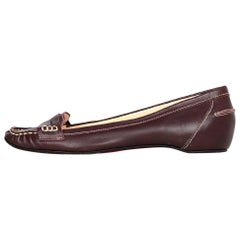 Christian Louboutin Brown Leather Loafers Sz 38