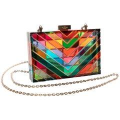 Valentino 1973 Rainbow Acrylic Clutch Bag Miniaudière, 2015