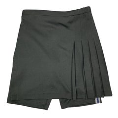 COMME des GARCONS HOMME PLUS S Black Pleated Kilt Skort Shorts