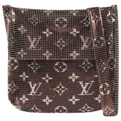 "LOUIS VUITTON ""Frances"" Metallic Monogram Metal Mesh Chainmail Cross Body Bag"