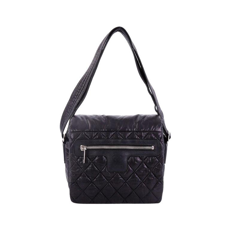 47a17f1522f9 Chanel Coco Cocoon Messenger Bag Quilted Nylon Medium For Sale at 1stdibs