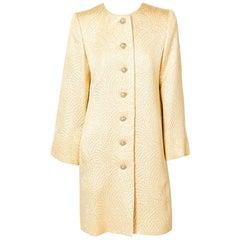 Yves Saint Laurent Gold Matelassé Evening Coat