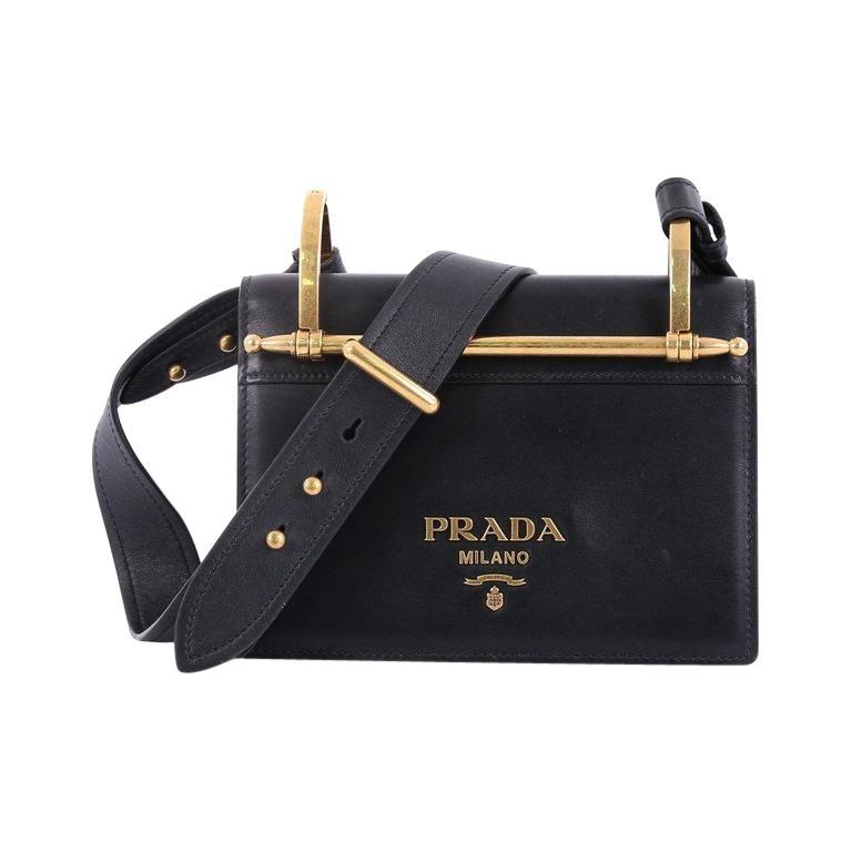3d818f411a9036 Prada Cahier Crossbody Bag City Calf Small For Sale at 1stdibs