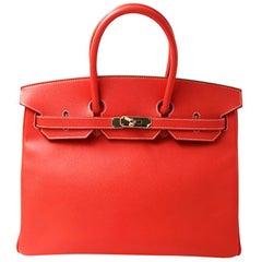 Hermès Birkin Rose jaipur Epsom 35 Leather Tote