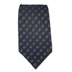 LANVIN Black Silk Textured Tie