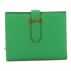 3bdb720a290 Hermes Cactus Green Matte Alligator Compact Constance Wallet at 1stdibs