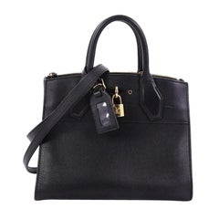 Louis Vuitton City Steamer Handbag Leather PM