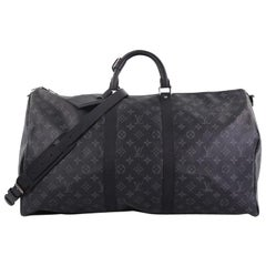 Louis Vuitton Keepall Bandouliere Bag Monogram Eclipse Canvas 55