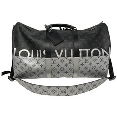 Louis Vuitton Monogram Eclipse Split Keepall 50 Bandouliere