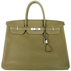 Hermès Vert Veronese Togo 40 cm Birkin Bag