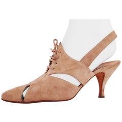 50ecd3c35ab54 Diego Della Valle x Alaïa - Khaki Suede Heels - Size 40 (EU)