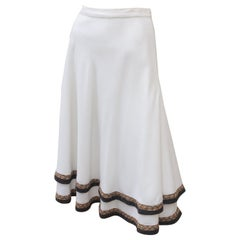 Koos Van den Akker 1970's Tiered Cotton Blend Peasant Skirt