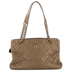 b04e3ceefe11 Chanel CC Crown Tote Quilted Leather Medium