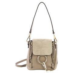 Chloe Faye Backpack Leather and Suede Mini