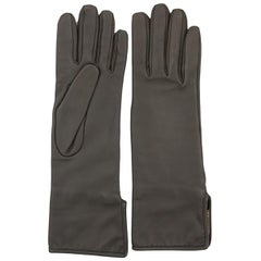Hermès Etoupe Lambskin Gloves