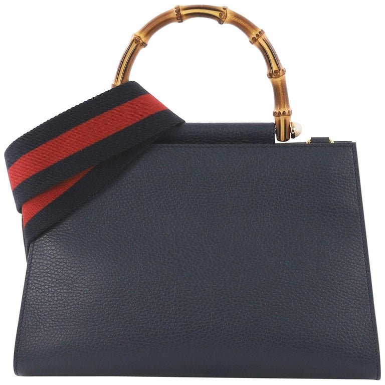 2f03fc71be749a Gucci Nymphaea Top Handle Bag Leather Small For Sale at 1stdibs