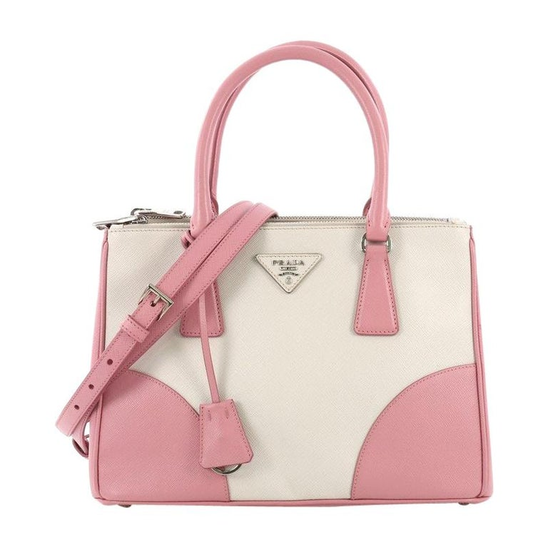 8e628b5544ee Prada Bicolor Double Zip Lux Tote Saffiano Leather Small For Sale at ...